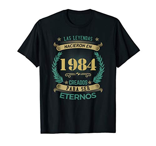Camisetas Playeras 1984 Leyendas Hombre 35 Anos Cumpleanos wPN8X0knO