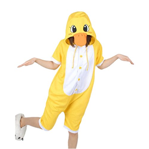 WOTOGOLD Animal Cosplay Costume Summer Yellow Duck Pajamas Short Sleeve,XS fit height 51 ''-55 '' by WOTOGOLD