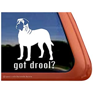 Got Drool? English Mastiff Vinyl Window Dog Decal Sticker 31