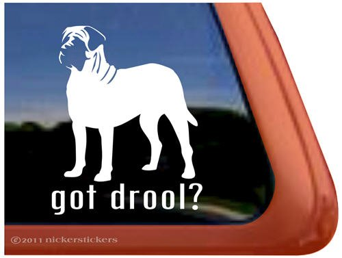 - Got Drool? English Mastiff Vinyl Window Dog Decal Sticker