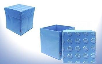 Delightful Lego Storage Stool   30.5 X 30.5 X 31.5cm Blue