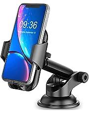 Cocoda Autohouder Mobiel, Dashboard/Voorruit Mobiele Autohouder, 360° Rotatie Uitschuifbare Arm gsm autohouder voor Mobiele Telefoon met Quick Release-Knop voor iPhone Samsung Huawei ect