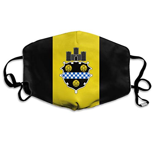 SDQQ6 Flag of Pittsburgh Mouth Mask Unisex Printed Fashion Face Mask Anti-dust Masks -
