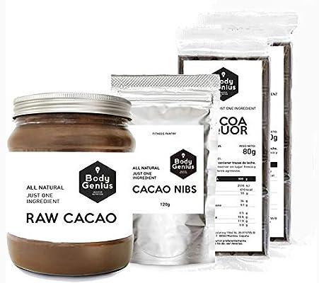 BODY GENIUS Pack Cacao Puro. Cacao Puro en Polvo + 2 x Cacao en ...
