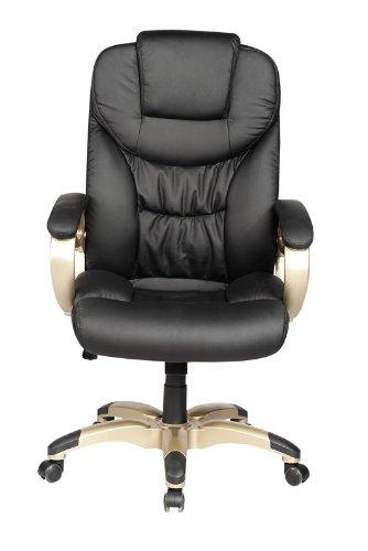 Best Price High Back Black Computer Desk Leather Ergonomic Office Executive