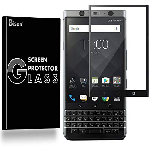 [2-Pack BISEN] BlackBerry KeyOne Tempered Glass Screen Protector [Full Coverage], Edge-to-Edge Protect, Anti-Fingerprint, Anti-Bubble, Lifetime Protection