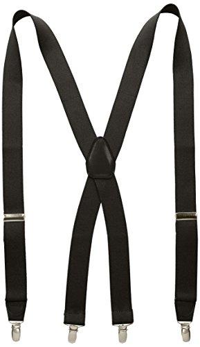 Price comparison product image Wembley Men's 32 mm Solid Stretch Suspender,  Black,  One Size