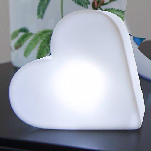MIA Light Beleuchtetes Herz aus PVC mit LED Batterie, Dekoleuchte, Indoor
