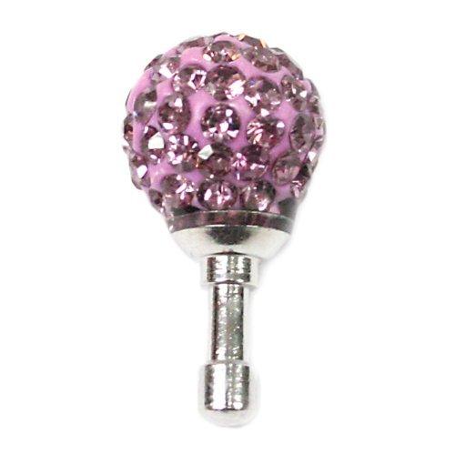 Gioielli per il tuo telefonino nella forma di palla con strass in color viola.