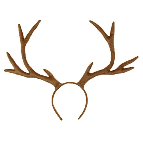 Deer Halloween Costumes (M&G House Reindeer Antlers Headband Christmas and Easter Party Short Plush Headbands)