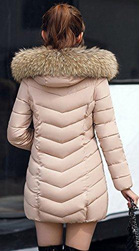 Winter Jacket Coat Khaki Women Long Down BLACKMYTH Fur Outwear Cotton Thick Collar AwZYFRBUgq