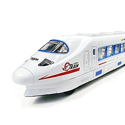 Babrit Eletric Train with Flash Light and Music Toy for Kids