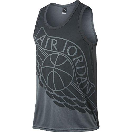 Jordan Wings Block Out Men's Tank Top Cool Grey/Dark Grey 842312-021 (Size S)