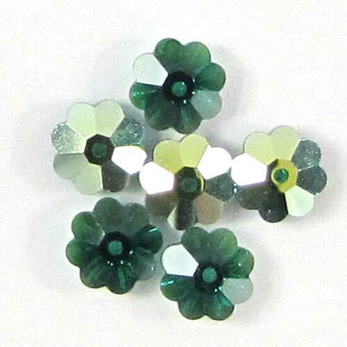 - buyallstore 6 8mm Swarovski Crystal 3700 Margarita Emerald AB