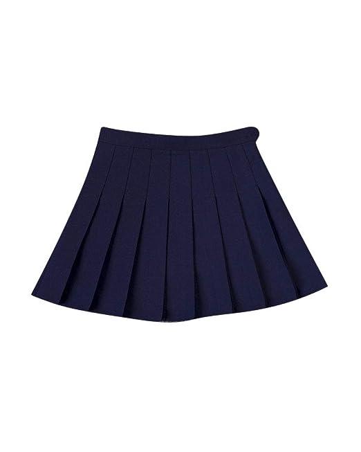 Shaoyao Mujer Plisadas Alta Cintura Uniformes Estudiantiles Faldas ...