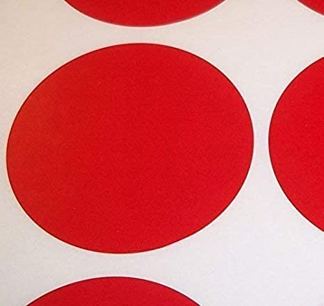 Choisissez Votre Couleur//S Rouge Audioprint Ltd.Paquet de 100 Grand 63mm Rond//Circulaire Code Couleur Points Autocollants de Prix Vierges /Étiquettes Collantes