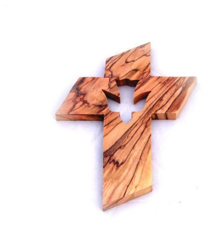 Olive Wood Dove of Peace Holy Trinity Silhouette Cut Out Design Wall ()