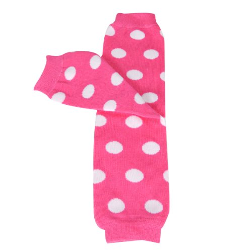 - Wrapables Colorful Baby Leg Warmers, dots Pink/White, One Size