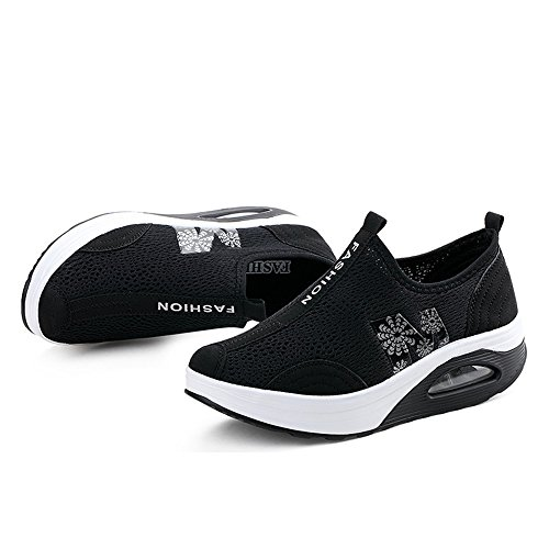 up Fitness Shoes Platform Women Shape Slip Black Toning 269 Sneakers On Enllerviid Walking Mesh wE8Xz