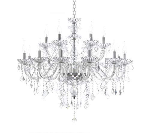 Crystal Light Eighteen Chandelier - Generic Luxury Pendant Lamp Crystals Chandelier 18 Lights Arms Lamp Color Clear