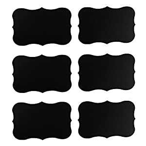 """Houseables 36 Chalkboard Labels, 3""""x2"""" Blackboard Stickers, Vinyl, Fancy Rectangle, Peel and Stick, Reusable, Erasable, Chalk board, Labels for Kitchen, Pantry, Wine Glasses, Mason Jars and More"""