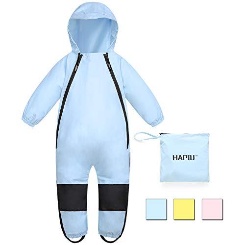 HAPIU Kids Toddler Rain Suit Muddy Buddy Waterproof Coverall,Blue,5T,Original