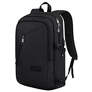 Slim Travel Backpack,Anti-Theft College School Backpack with USB Charging Port and Lock for Men Women Student,Durable Water Resistant Ourdoor Backpack Bag Fits 15.6 inch Laptop and Tablet