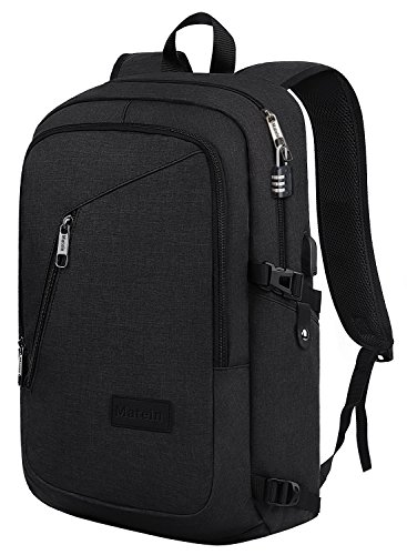 Slim Travel Backpack,Anti-Theft College School Backpack with USB Charging Port and Lock for Men Women Student,Durable Water Resistant Ourdoor Backpack Bag Fits 15.6 inch Laptop and Tablet -