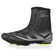 Basecamp Bike Cycling Shoe Covers, Outdoor Sports Waterproof Warmer Overshoes Shoe Covers Shoe Booties for Men Women MTB Mountain Road Toe Cover Bike Shoes Winter Rain Cycling Bicycle Cycle