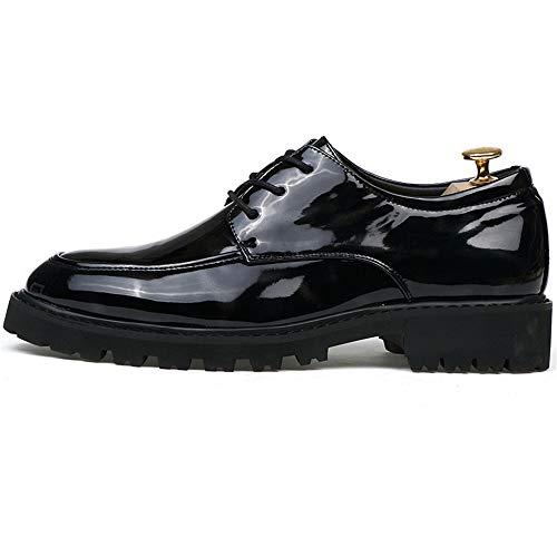 Uomo antiscivolo Gray traspirante Black in Business EU Casual uomo pelle Oxford Classic da Suola Color Chic e verniciata scarpe Dimensione Pelle Jiuyue 2018 41 Scarpe shoes Red Black pxnaqOwFvU