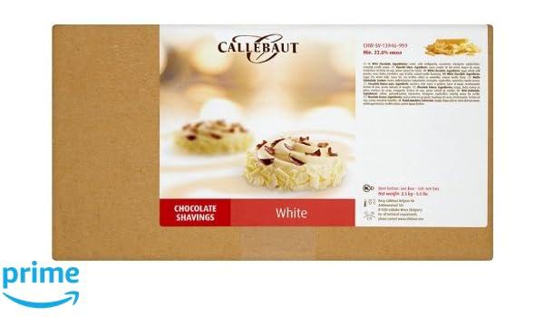 Callebaut - Virutas de Chocolate Blanco (shavings) 2,5kg: Amazon.es: Alimentación y bebidas