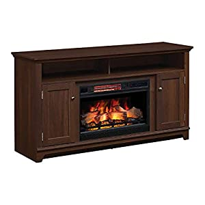 Eldersburg Infrared Electric Fireplace TV Stand in Woodland Cherry - 26MM6297-PC42