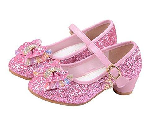 YOGLY Niñas Zapatos de Tacon de Lentejuelas Disfraz de Princesa Niña  Zapatilla de Baile  Amazon.es  Zapatos y complementos 4f7be2efb151