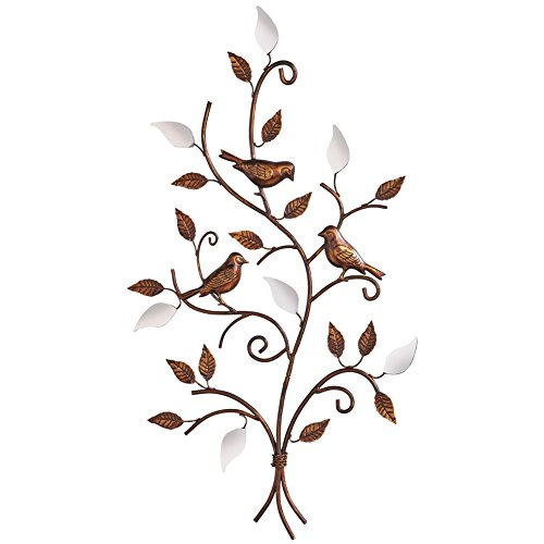 Rustic Birds Bronze Mirror Brown