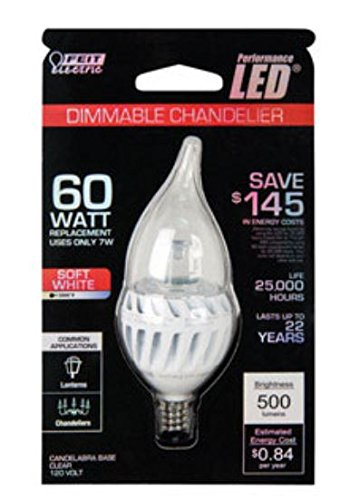 Feit Electric Led Light Bulb Candelabra E12 7W