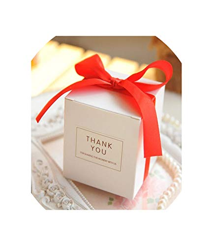 Simple Atmosphere White Cube Candy Boxes Wedding Party