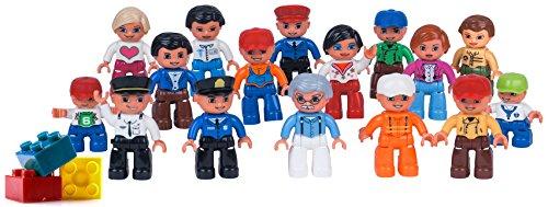 Community Figures Set Lego Duplo Compatible(16 Pcs)