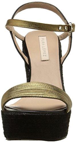 Gold Oro Napa Or Pura Lopez Ah335 Metal Sandalen Damen YwwqI8z