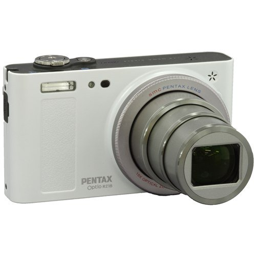 PENTAX digital camera Optio RZ18 (Pearl White) 16 million pixel 25mm 18x optical compact, lightweight OPTIORZ18WH