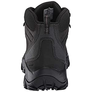 Columbia Men's Newton Ridge Plus II Waterproof Hiking Boot-Wide, Black, Black, 12 Regular US