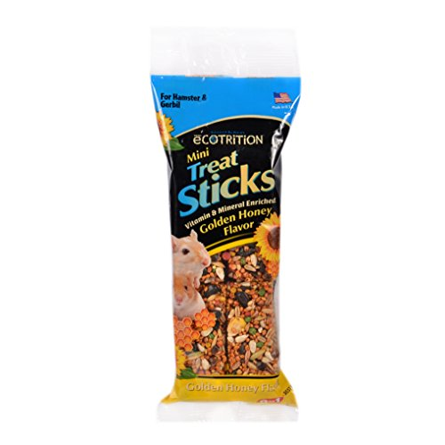 - Ecotrition Mini Treat Sticks For Hamsters And Gerbils, Golden Honey Flavor, 3.25-Ounce, 2-Pack