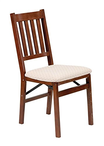 (Arts and Crafts Folding Chair in Warm Cherry Finish - Set of 2)