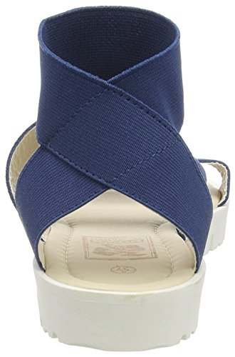 Spot OnElastic Strap Tread Sole - sandalias mujer Azul - azul (Navy)