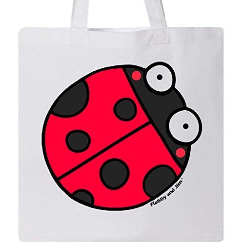 Inktastic - Ladybug Tote Bag White - Flossy And Jim 2ce98