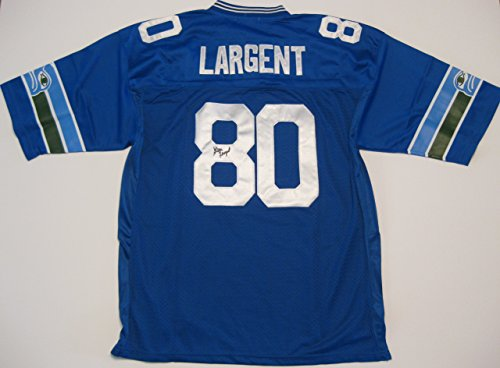 steve-largent-seattle-seahawks-hof-signed-autographed-football-jersey-a-coa-with-the-proof-photo-of-