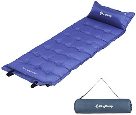 Sleeping Mat with Attached Inflatable Pillow,Water Repellent Coating