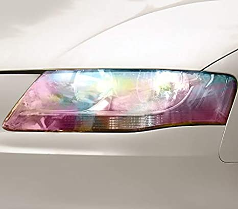 "VViViD Extra-Wide Headlight Taillight Vinyl Tint Wrap 16/"" x 48/"" Roll Includin..."