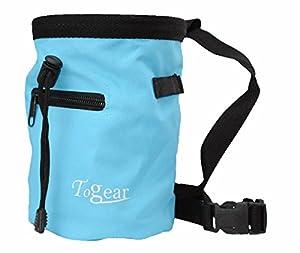 Rock Climbing Chalk Bag w/ Drawstring Closure, Belt and Zipper Pocket from Togear