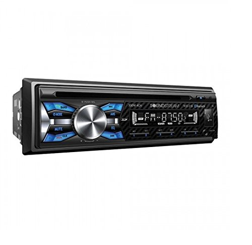 Soundstream VCD-21B Single DIN CD Player with 32GB USB Playback/Bluetooth