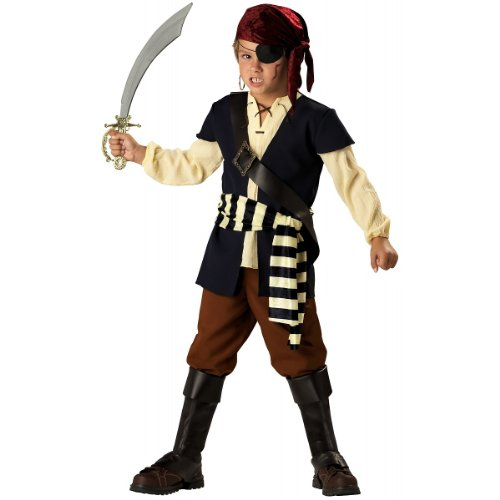 InCharacter Costumes Boys 2-7 Pirate Mate Costume, Blue/White, 6 (Incharacter Pirate Costume)